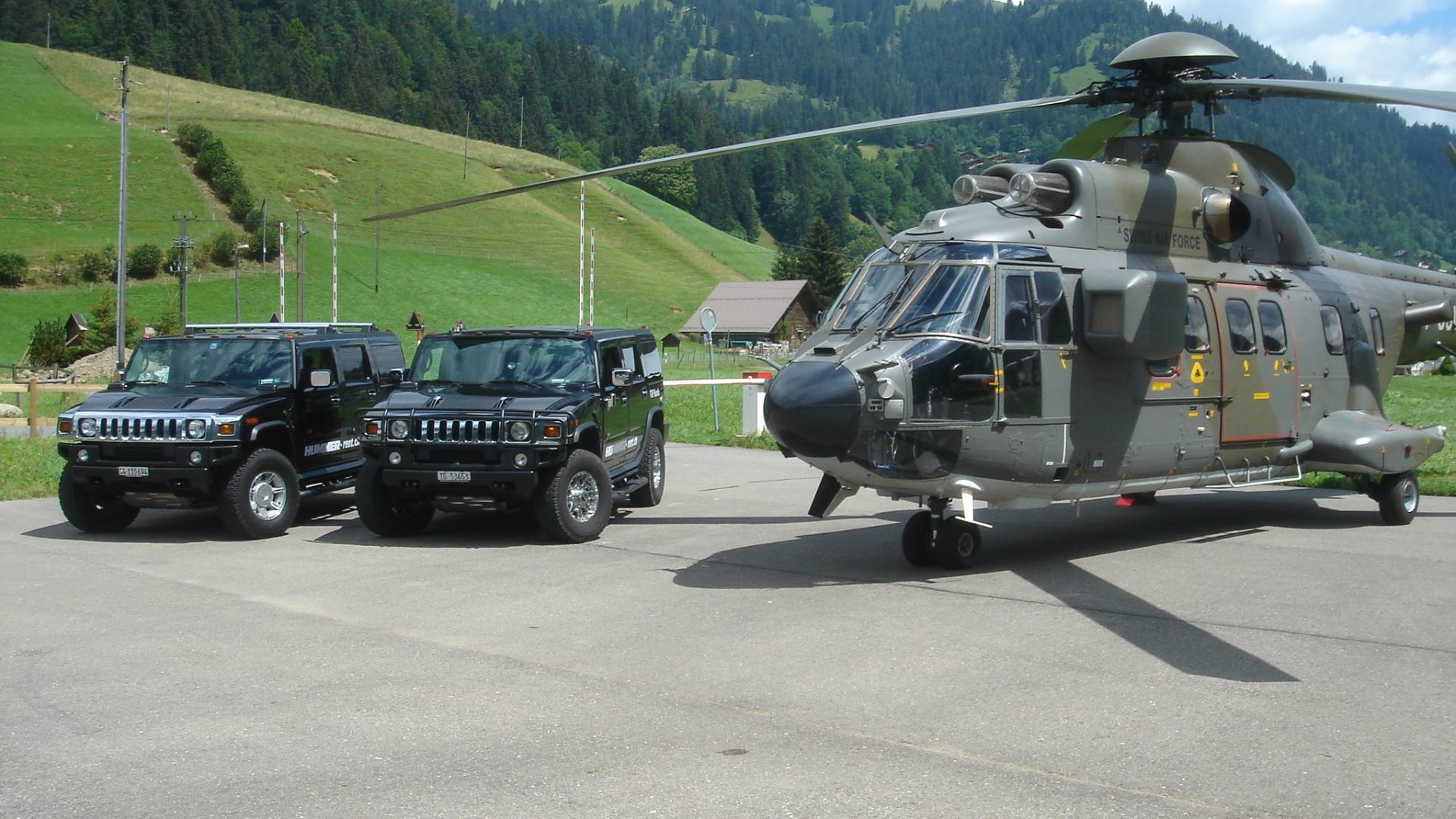 Promotion HUMMER SWISS Airforce THE DRIVER